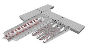 Badbrygga Rotodock T-form 7,5 x 1,5 meter och 6,0 x 1,5 meter med 2 JetPort Plus och Båtbrygga 6, Flytkapacitet 11.415kg